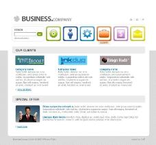 清新淡雅网页设计模板图片
