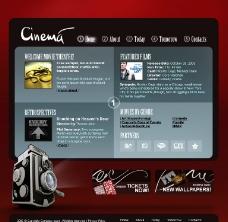 欧美风格网页设计模板图片