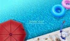 夏日海滩沙滩游泳潜水图片