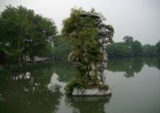 三潭印月 山石图片