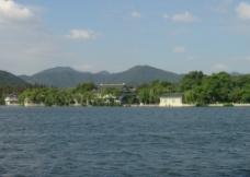 苏堤春晓 湖面图片