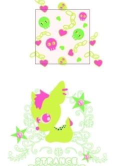 外贸童装印花绣花图案元素图片