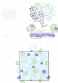 外贸童装印花绣花图案元素