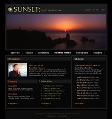 欧美黑色网站模版图片