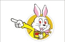 矢量金兔子图片
