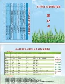 建议卡 农作物施肥建议卡图片