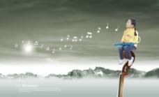 孩子儿童音乐教育素材图片