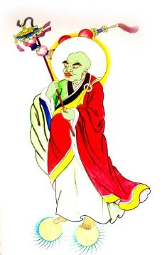 佛教手绘图片