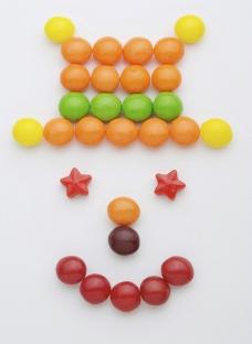 糖果雪人图片