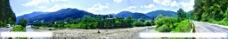 山区全景景色图片
