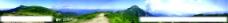 山峦全景风光图片