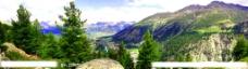 山间全景景色图片