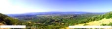 山区盆地全景图片