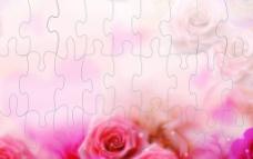 玫瑰拼图图片