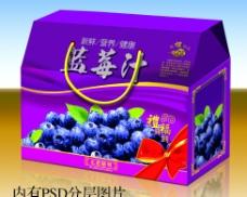 蓝莓包装礼盒(展开图)图片