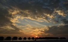 马尔代夫黄昏的天空图片