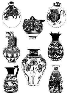 陶器瓦罐纹样图片