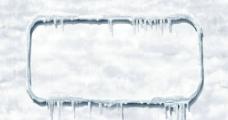 冰雪边框图片