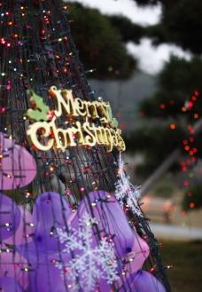 圣诞节彩灯图片