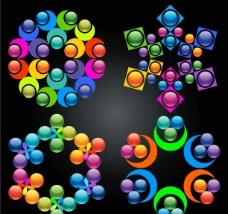 动感七彩圆圈图片