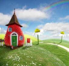 童话风格小屋风景图片