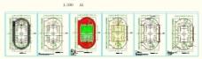 AUTOCAD格式的400米跑道标场图图片