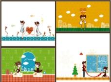 兒童畫 卡通畫 愛情圖片