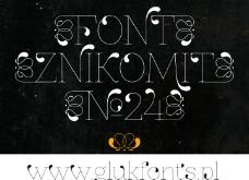水滴设计字体