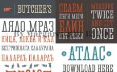 瘦高英文设计字体