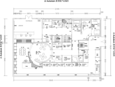 陶瓷展厅施工图图片
