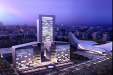 办公大楼建筑效果图图片