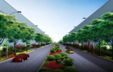 工厂绿化效果图图片