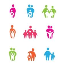 家庭人員圖標 logo圖片