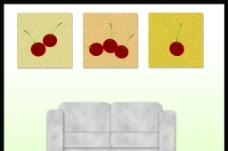 客厅无框画图片