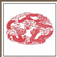 剪纸系列之双龙戏珠