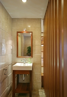 样板房卫浴一角图片