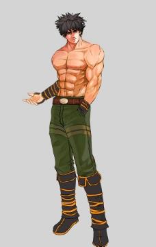 肌肉型男图片