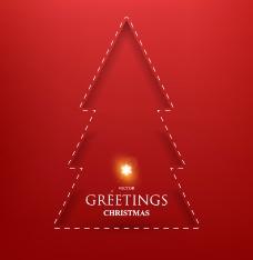 缝线圣诞树矢量图片