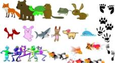 各种失量卡通动物图片